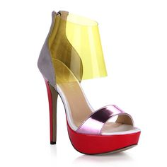 Women Stiletto Pumps Red Platform Gold Ankle Strap Sandals Ladies Shoes Dolphin Girl Prime * Want additional info? Click on the image.
