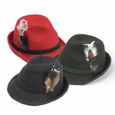 1ab167778ed Adult Alpine German Hat with Feather