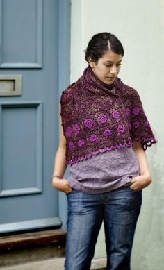 Free crochet pattern Old Rose Wrap