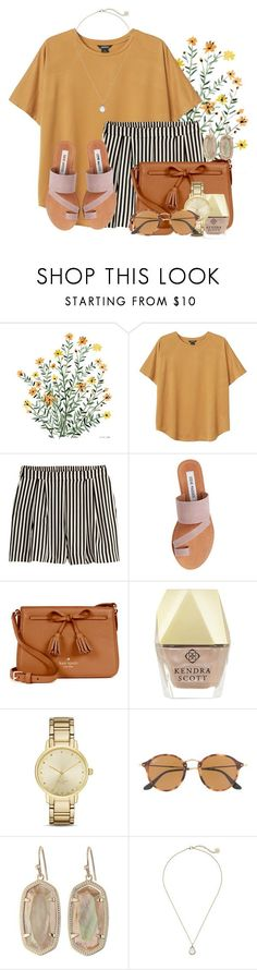 """Packing for Treasure Island "" by flroasburn ❤ liked on Polyvore featuring Monki, H&M, Steve Madden, Kate Spade, Kendra Scott and Ray-Ban"