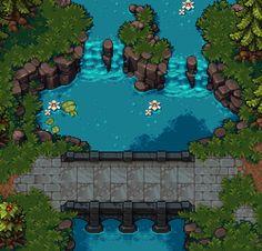 retronator: Fabian a.k.a. Vierbit Pixel Joint // Pixelation водопад анимация пиксель арт