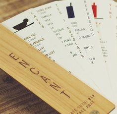 Encant Café Sushi Bar menu in shape of fan from 10 inspiring menu designs | Graphic design | Creative Bloq