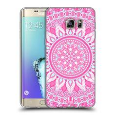 HEAD CASE silikonový obal na mobil Samsung Galaxy S6 EDGE PLUS vzor Indie  Mandala slunce barevný motiv RŮŽOVÁ 1ff0e193905