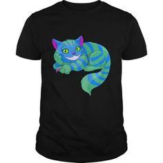 Shop Cheshire cat T-Shirt custom made just for you. Custom T, Custom Shirts, Color Tag, Cat Behavior, Cheshire Cat, Cat Shirts, Cat Face, Direct To Garment Printer, Mens Fitness