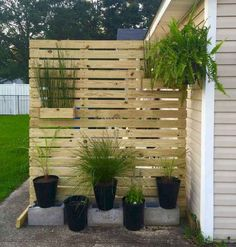 65 DIY Backyard Privacy Fence Design Ideas on a Budget 65 . - 65 DIY Backyard Privacy Fence Design Ideas on a Budget 65 DIY Backyard Privacy Fence - Diy Privacy Fence, Privacy Fence Designs, Privacy Screen Outdoor, Diy Fence, Backyard Fences, Backyard Landscaping, Landscaping Ideas, Pallet Fencing, Privacy Wall On Deck