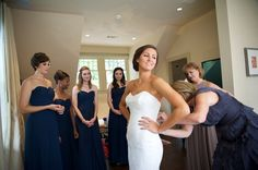 Getting In Wedding Dress Blume Photography