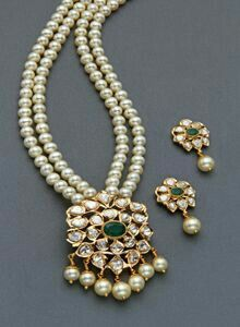 Pearl Necklace Designs, Gold Earrings Designs, Gold Jewellery Design, Pearl Jewelry, Wedding Jewelry, Beaded Jewelry, Diamond Jewelry, Gold Necklace, Coral Bracelet