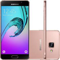 "Americanas Smartphone Samsung Galaxy A5 2016 Dual Chip Desbloqueado Tela 5.2"" 16GB 4G 13MP - Rosé -R$ 1.583,12"