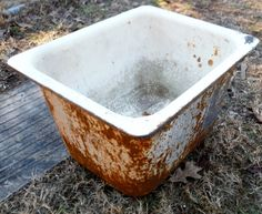 Antique Cast Iron Mop Utility Sink for  Utility by dustybunnyranch