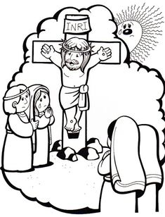 Jesus Crafts, Bible Crafts, Bible Coloring Pages, Coloring Books, Jesus Cartoon, Jesus Drawings, Religion, Sunday School Activities, Easter Story