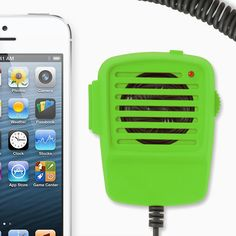 Two-Way Radio handset for iPhone | SpiffThing Design Store!