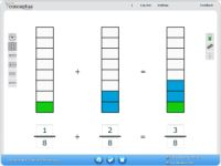 Conceptua® Fractions is an online math curriculum that uses simple visual models to make it easy to teach fractions. Subscription-based, but there are some free resources.