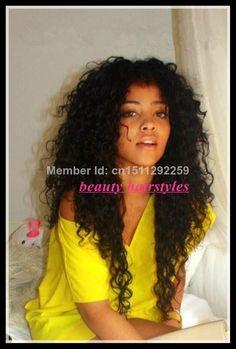 Stock !! Curly hair U part wig brazilian unprocessed virgin U part  human hair wig for black women free shipping $112.00 - 230.00