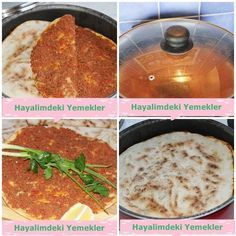 How to make lahmacun in a pan Meat Recipes, Cooking Recipes, No Gluten Diet, Pizza Pictures, Turkish Recipes, Ethnic Recipes, Minced Meat Recipe, Turkish Kitchen, Salty Foods