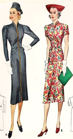 1930s Misses' Fitted Dress