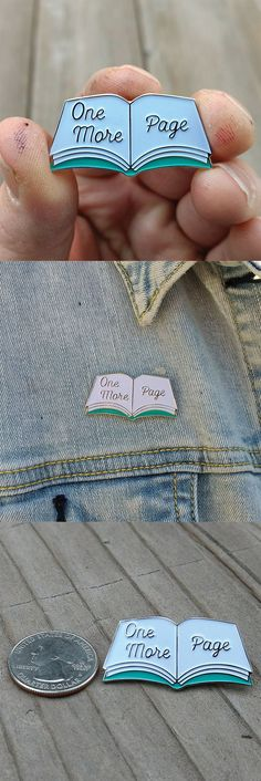 Book enamel pin. show off your reading addiction with an awesome lapel pin. This is great for anyone who can't stop reading. perfect to wear on hats, lapels, bags and wherever you want your passion of reading to shine.