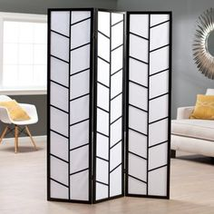 If you have an open space in your home, or especially if you live in a studio-styled dwelling, the Climbing Branches 3-Panel Screen Room Divider, Black is a perfect way to separate a room. Create a di