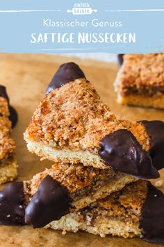 Juicy nut corners- Saftige Nussecken Nut corners are a real classic. Here you will learn how you can easily bake them yourself. It is not difficult at all and the result is delicious!