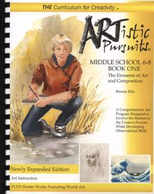 ARTistic Pursuits Middle School Book One, The Elements of Art and Composition (ARTistic Pursuits) by Brenda Ellis Plastic Comb Painting Lessons, Art Lessons, Elements Of Art Space, Middle School Books, Homeschool Books, Homeschooling, History Page, Art History, Art Curriculum