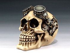 Dash Fun  Funny Office  Creative Steampunk Skull Pilot with Goggles Desk Accessory * Details can be found by clicking on the image.