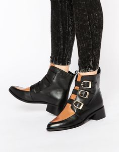 ASOS+ADDICTED+TO+YOU+Leather+Ankle+Boots