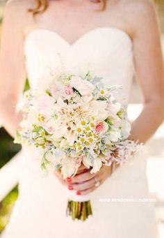 """ Holly's bouquet had English Garden roses, Dusty Miller, Jasmine, Dahlias and mini Daisies. (via California ranch wedding: Holly Jon Daisy Bouquet Wedding, Bride Bouquets, Floral Wedding, Wedding Flowers, Daisies Bouquet, Pastel Bouquet, Boquet, Rose Bouquet, Floral Bouquets"