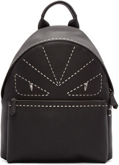 4da67ddc076d Fendi - Black Studded Monster Backpack Fashion Backpack