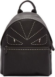 Fendi  Black Studded Monster Backpack