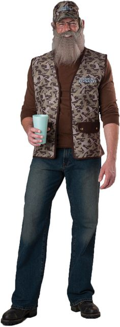 men's costume: duck dynasty uncle si