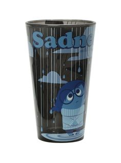 Disney Inside Out Sadness Pint Glass Disney Inside Out, Alice In Wonderland Dress, Disney Home, Disney Movies, Disney Stuff, My Cup Of Tea, Disney Costumes, Disney Merchandise, Disney Shirts