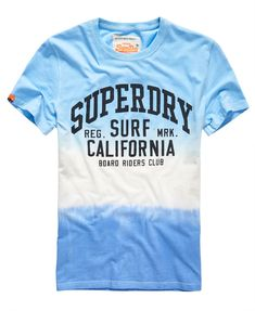 Shop Superdry Mens Tie Dye Luxon T-shirt in Dip Dye Blue/navy. Buy now with free delivery from the Official Superdry Store. Superdry Tshirts, Mens Polo T Shirts, Mens Tees, Tee Shirts, Cool Graphic Tees, Cool Tees, Design T Shirt, Shirt Designs, Superdry Style