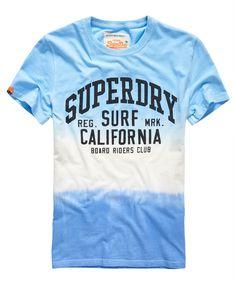 Mens - Tie Dye Luxon T-Shirt in Dip Dye Blue/navy | Superdry