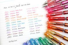 Taste the rainbow of Hi-Tec-C Maicas!: Pilot Hi-Tec-C Maica Gel Ink Pen - 0.4 mm - 12 Color Set - PILOT LHM-180C4-12C