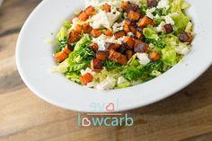 Wirsing-Salat mit geröstetem Kürbis