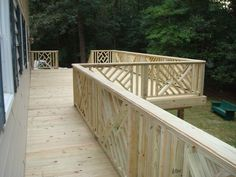 Custom built Chippendale railing