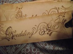 Wedding Tags With The Words Our Wedding by mslizz on Etsy, $16.00