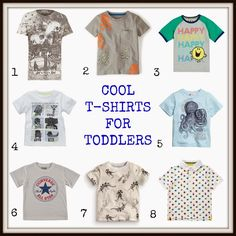Entertaining Elliot: Cool T-shirts for Toddler Boys