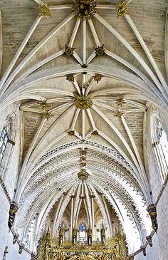 Bóvedas de la Cartuja de Miraflores en Burgos