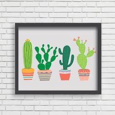 Southwest Art Print by @LucyDarlingPrints, $19.99 #illustration #print #cactus