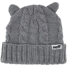 Neff Kat Beanie ($28) ❤ liked on Polyvore featuring accessories, hats, neff beanie, neff hats, beanie hats and neff