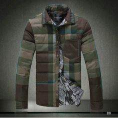 2015 Chaude Doudounes Burberry Homme Fashion Popular coton army vert