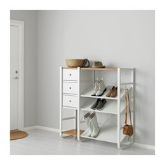 IKEA ELVARLI 2 sections White/bamboo 125x40x126 cm You can always adapt or complete this open storage solution as needed. Maybe the combination we've...