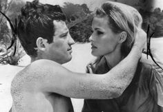 Ursula Andress and Jean Paul Belmondo