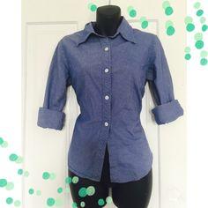 Express Long Sleeve Button Down 100% Cotton Blue Long Sleeve PinStripe Button Down 🚫Trades 🚫 PayPal Express Tops Button Down Shirts