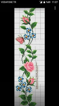 This type of cross stitch how is absolutely an impressive style concept. Cross Stitch Bookmarks, Cross Stitch Heart, Cross Stitch Borders, Cross Stitch Flowers, Cross Stitch Designs, Cross Stitching, Cross Stitch Embroidery, Cross Stitch Patterns, Embroidery Flowers Pattern