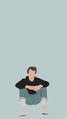 Wallpaper Simple Girassol - - Wallpaper Kpop Cute - Wallpaper Rosa E Dourado - Wallpaper Vintage Angel - Wallpaper Frases Preto People Illustration, Portrait Illustration, Cute Boy Wallpaper, Angel Wallpaper, White Wallpaper, Cover Wattpad, Arte Indie, Cartoon Art Styles, Cute Cartoon Wallpapers