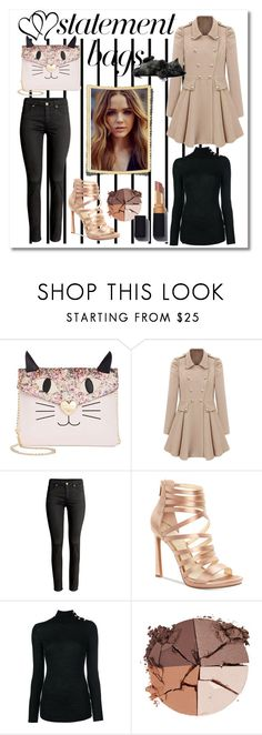 """cat bag"" by giada2017 on Polyvore featuring moda, Forum, Betsey Johnson, Jessica Simpson, Balmain e lilah b."