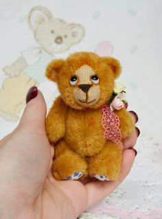 Miniature Teddy bear Bear Shy  Artist work
