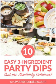 Here's Mary's idea of a killer New Year's Eve, Super Bowl or any other kind of party—one that includes a smorgasbord of dips and things to dip in them! Velveeta Cheese Sauce, Lipton Recipe Secrets Onion, Party Dips, Appetizer Dips, Dinner Menu, 3 Ingredients, Spicy