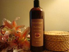 100% Pure Raw African Liquid Black Soap  (16oz)